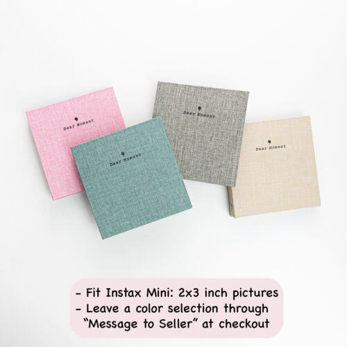 Photo album fits for Instax Mini | 100 photos | Removable pages | Flax cover