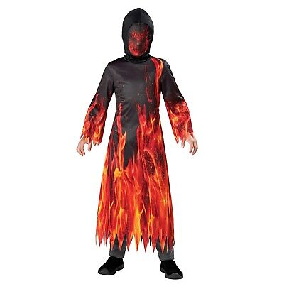 Fiery Demon Underworld Devil Boy's Halloween Dress-Up Costume Size 4-6 Small #R4](Devil Costume For Boy Halloween)