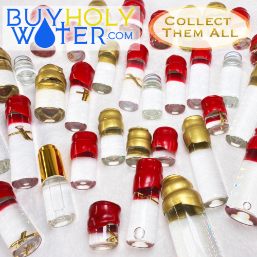 Authentic Holy Water Wax Dipped Stamped 20mL Vial Blessed By Pope Hand Made. - $23.99