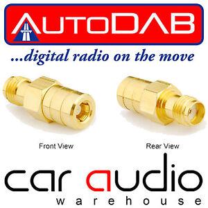 DAB DAB+ SMA to SMB Car Radio Stereo Aerial Antenna Connector Adaptor