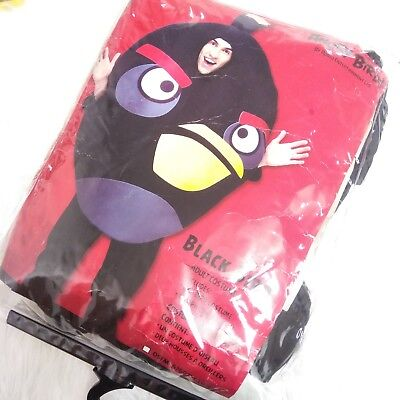 Preowned ANGRY BIRDS Black Bird Halloween Party Adult Costume & 2 Pillow - Angry Birds Black Bird Kostüm