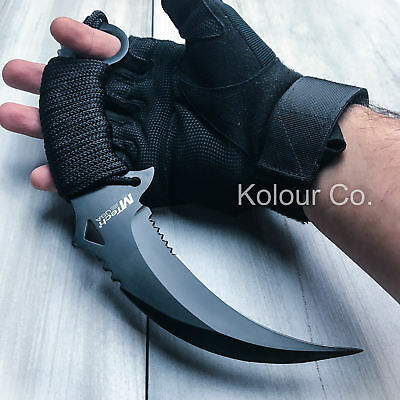 "10"" TACTICAL COMBAT KARAMBIT KNIFE Survival Hunting BOWIE Fixed Blade w/SHEATH"