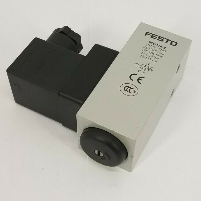 New In Box FESTO PEV-1/4-B 10773 PLC Pressure Switch 24VDC