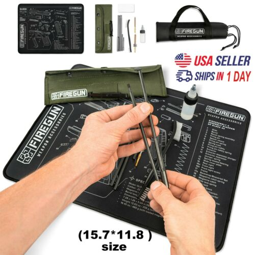 Gun Cleaning Mat for Glock, 15.7*11.8  with cleaning Kit and Gun Oil