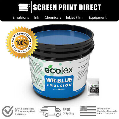 Ecotex Wr-blue - Water Resistant Diazo Screen Printing Emulsion - All Sizes