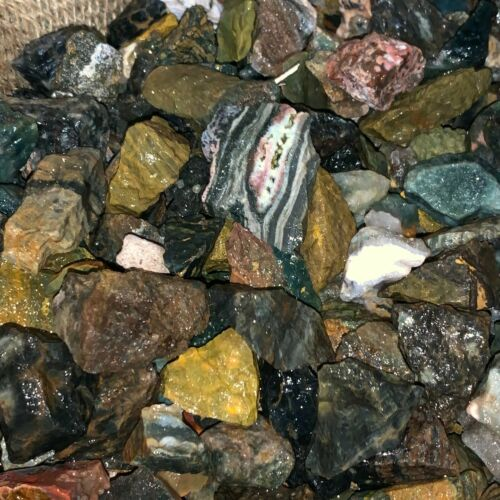 500 Carat Lots of (SMALL) Ocean Jasper Rough+ a FREE faceted Gemstone- Very Nice
