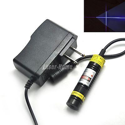 405nm 100mw Blueviolet Focusable Cross Laser Diode Module 5v Adapter