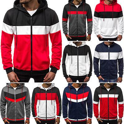 Shirt-jacke (Kapuzenpullover Sweatshirt Pullover Hoodie Sweatjacke Herren OZONEE 10155 MIX)
