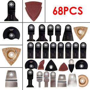 68PCS Oscillating Multi Tool Saw Blades For Fein Multimaster Dewalt Makita Bosch