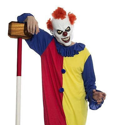 Adult Mens Killer Scary Evil Clown Purge IT Halloween Full Costume Mask Jumpsuit](Mens Evil Clown Halloween Costumes)