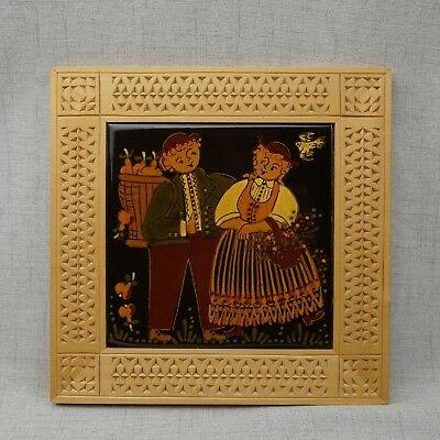 Hans Huggler Wyss Tile With Wood Frame