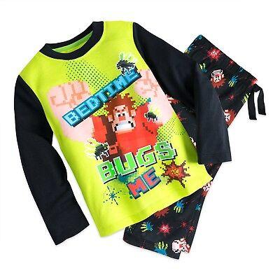 Disney Store Wreck-It Ralph Pajamas Sleep Set for Boys Vanellope Glitch PJ's