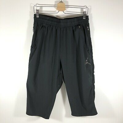 Nike Air Jordan Ultimate Flight Vented 3/4 Basketball Pants Black Men's XL