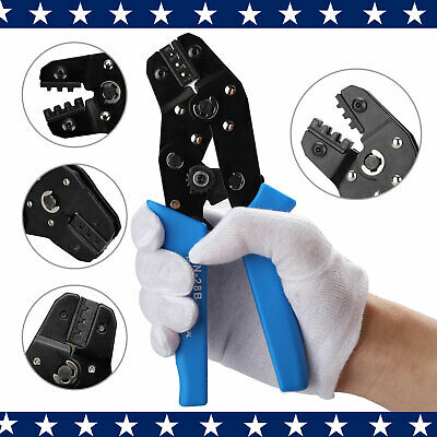 Professional Wire Crimping Cable Tool Terminal Ratcheting Ratchet Crimper Pliers