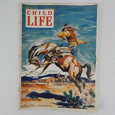 Child Life Magazine June 1941 Vintage Stories Activities Advertising