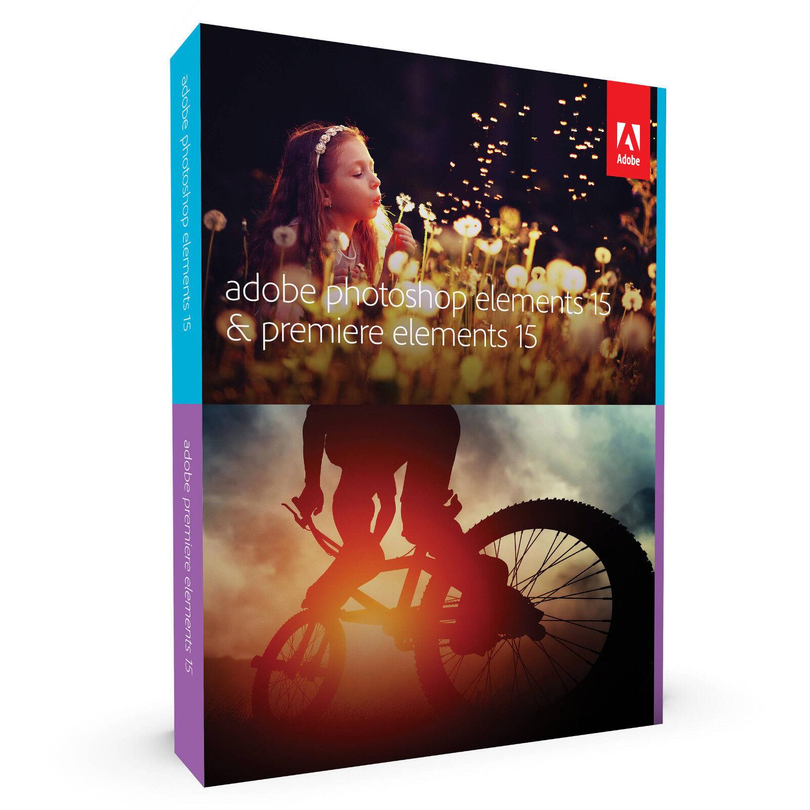 Adobe Photoshop Elements 15 & Premiere Elements 15 Bundle...