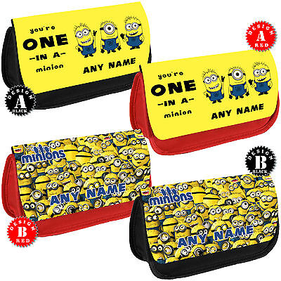 MINIONS Personalised Pencil Case Girls Make up Bag School Name Gift Despicable - Minions Character Names