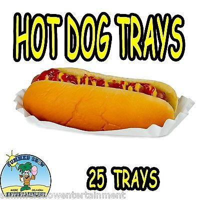 Hot Dog Holders (25 Hot Dog Tray Holders Paper Fluted Brand NEW CONCESSION SUPPLY)