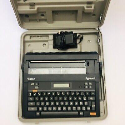 Vintage Canon Typestar 5 Electric Typewriter Whard Case Ribbon - Working