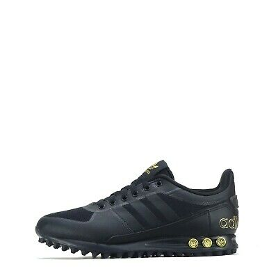 adidas Originals LA Trainer II 2 Men's Trainers Shoes, Black/ Metallic Gold