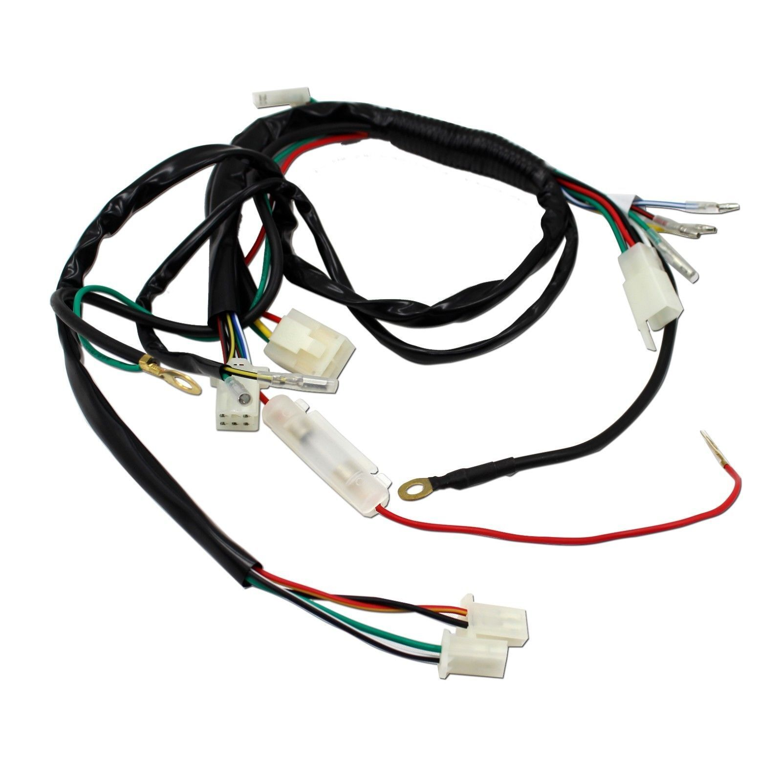 Full Wiring Harness Loom 50 70 90 110 125cc Dirt Pit Bike Electric New 110cc Wire 2 Of 12