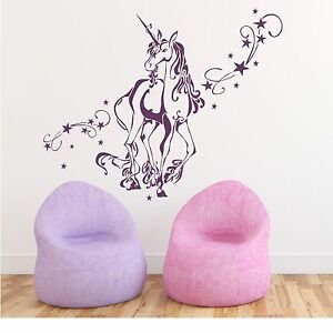 Http Www Ebay Com Itm Wall Decal Sticker Tattoo Unicorn With Stars Home Decor 331244434299