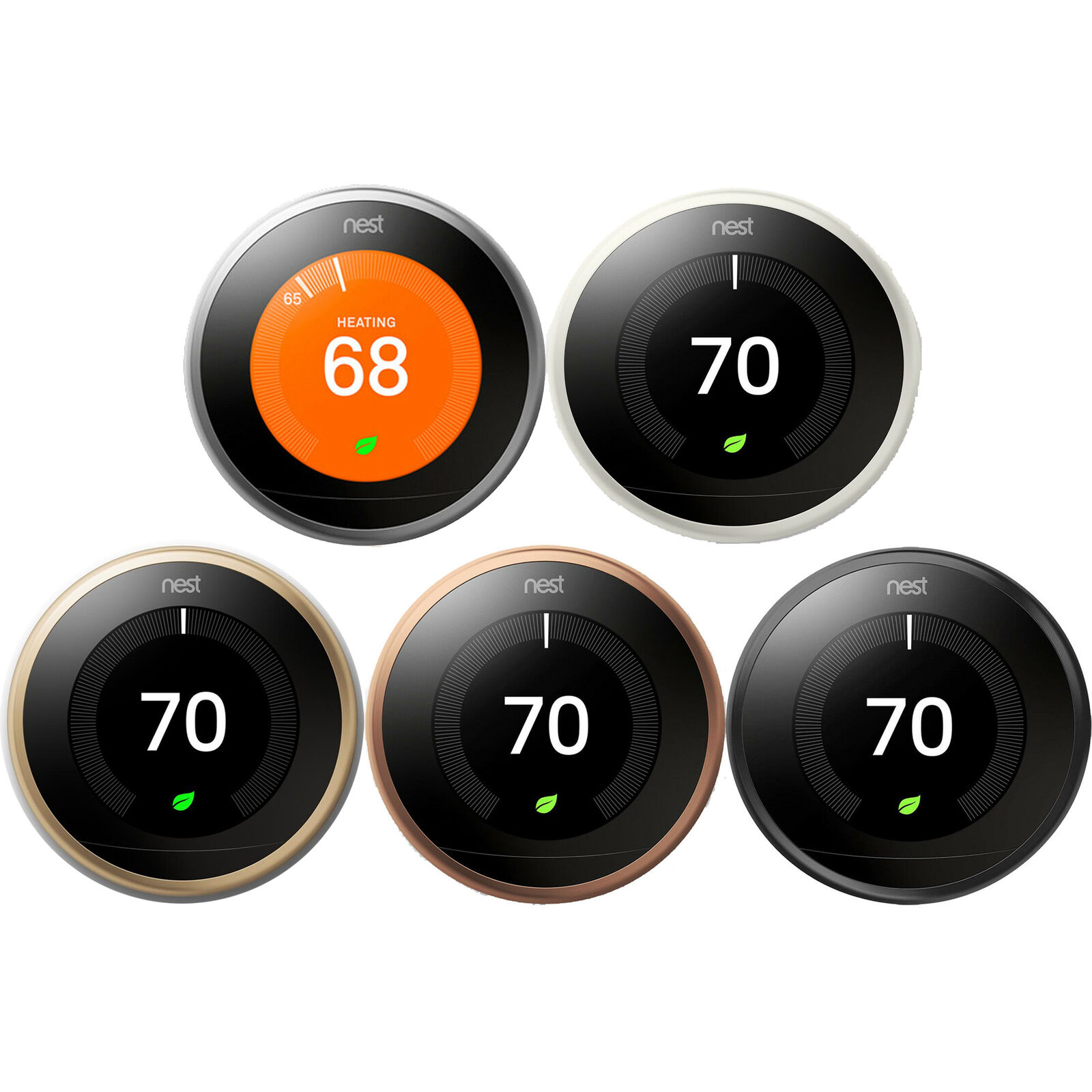 Google Nest Learning Thermostat Smart Wifi  - Choose Color