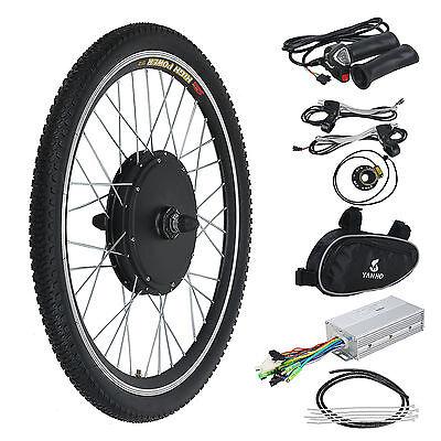 "26"" 48V 1000W Electric E Bike Kit Conversion Bicycle Motor Hub Front Wheel"
