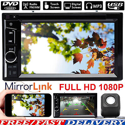 Car Stereo Radio Set Player Hands-free 2Din Rear View Camera Mirror Link For GPS Rear View Hands Free Car