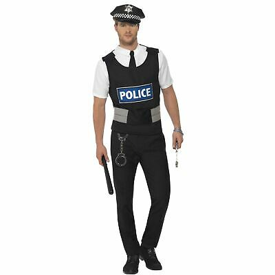 Adult's Policeman Officer Fancy Dress Costume Kit UK Cops Funny Stag Do ](Funny Cop Costume)