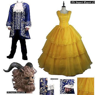 Bella und die Bestie Kleidung Karneval Frauen Männer beauty und the beast -