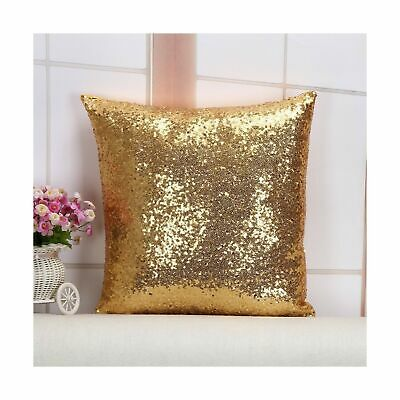 Gold Decorative Toss Pillow - Toss Pillow Best Choice 24''X24'' Light Gold Sequins Decorative Throw Sofa Toss