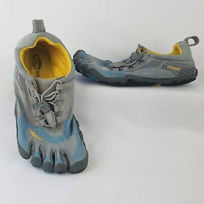 Vibram Five Fingers Shoes Womens Gray Lace Up Barefoot Running Walking Water 6.5