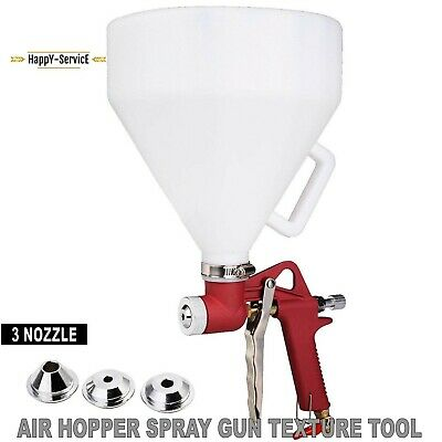 Air Hopper Spray Gun Paint Texture Tool Drywall Painting Sprayer With 3 Nozzle