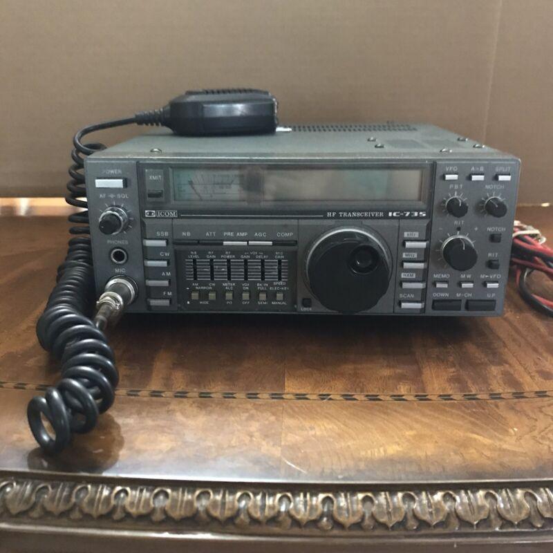 ICOM IC-735 HF All Band Radio TRANSCEIVER + Mic