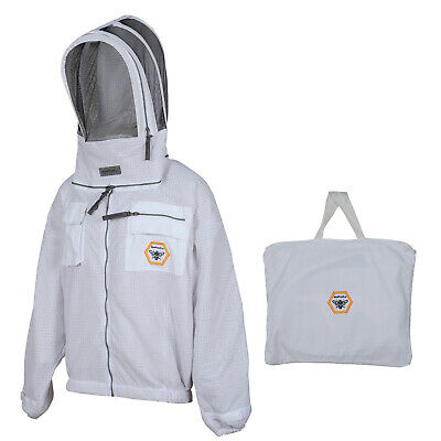 Beekeeper Ultra Ventilated 3 Layer Mesh Beekeeping Jacket Bee Hat Veil Small