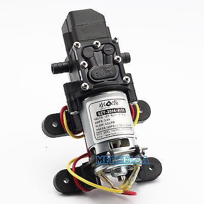 100psi Dc12v 4lmin Solid Electric Diaphragm Water Pump Self Priming For Rv Boat