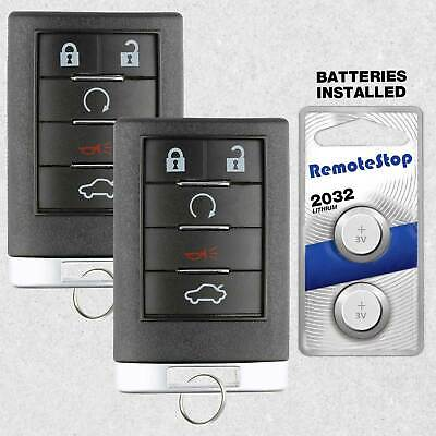 2 For 2008 2009 Cadillac CTS SRX STS DTS Keyless Entry Prox Remote Car Key Fob
