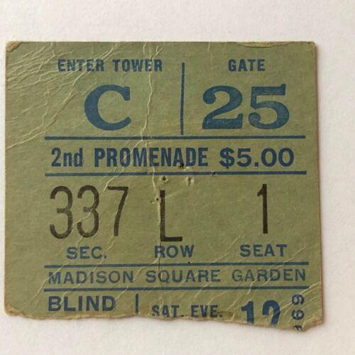 FRIDAY JULY 12, 1969~BLIND FAITH~CONCERT TICKET STUB w/FREE~MADISON SQ GARDEN NY