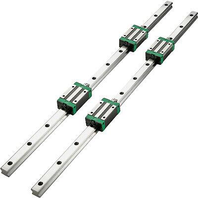 Vevor 2xhsr15-1200mm Linear Rail Slide Guide Rod4hsr15 Block Aluminium Bearing