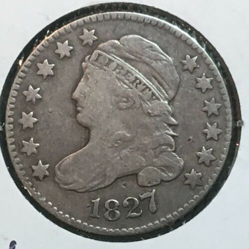 1827   Fine-VF  Capped Bust Dime  Nice Coin
