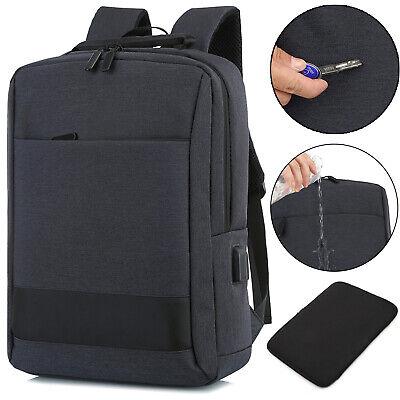 15.6 inch Laptop Backpack USB Waterproof Business Travel Sch