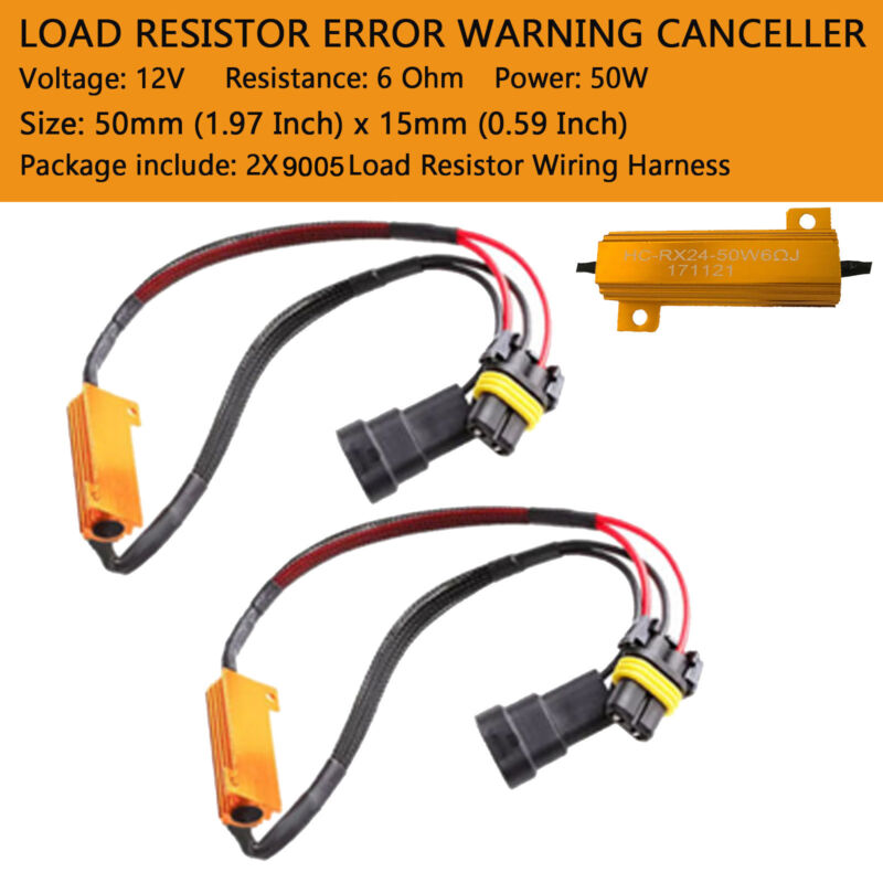 Alla Lighting Newest 9008 H13 CANBUS Decoders for Anti Flicker LED Headlights Bulbs Resistor Adapter Harness Kits//Fix Error Free Codes
