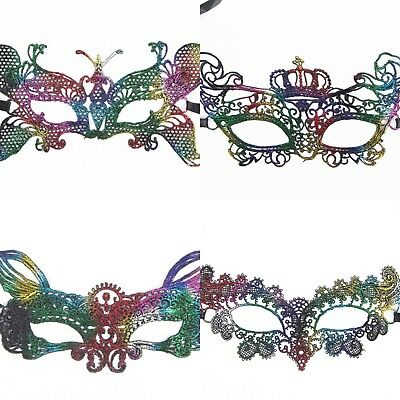 Mask Venetian Mascarade Ball Sexy Ladies Multi Coloured Lace Eye Party Halloween