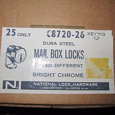 National C8720 Mail Box Lock Keys 5-pin Tumbler Dura Steelnew