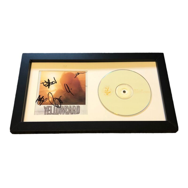 YELLOWCARD ROCK BAND SIGNED AUTOGRAPH OCEAN AVENUE FRAMED CD DISPLAY RYAN KEY +4