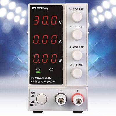 5a 60v Dc Power Supply Adjustable Three Digital Variable Precision Lab Grade