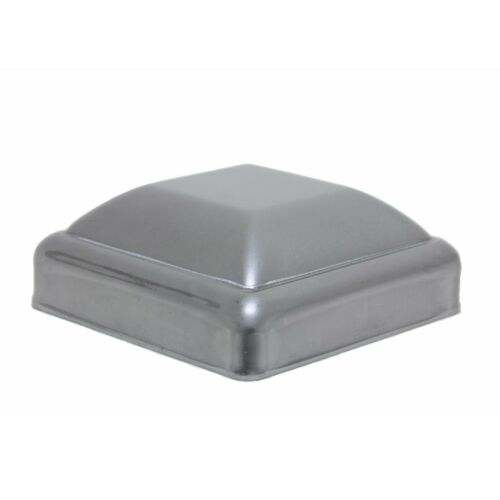 """3"""" Post Cap Pressed Dome Steel Metal Square for Gate Fences   10 Pack"""