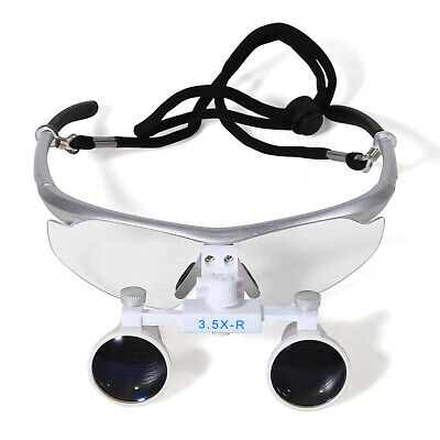 Dental Surgical Medical Binocular Loupes Magnifying Glasses 3.5x420mm Silver