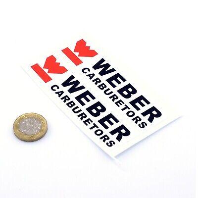 Weber Carburetors Stickers Classic Car Racing Decals Vinyl 100mm x2